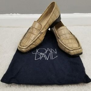 Joan & David Leather Embossed Loafers 8B